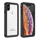iPhone Xs Max Waterproof Case, OUNNE Underwater Full Sealed Cover IP68 Dustproof Snowproof Shockproof Phone Case for iPhone Xs Max (Clear) Reviews