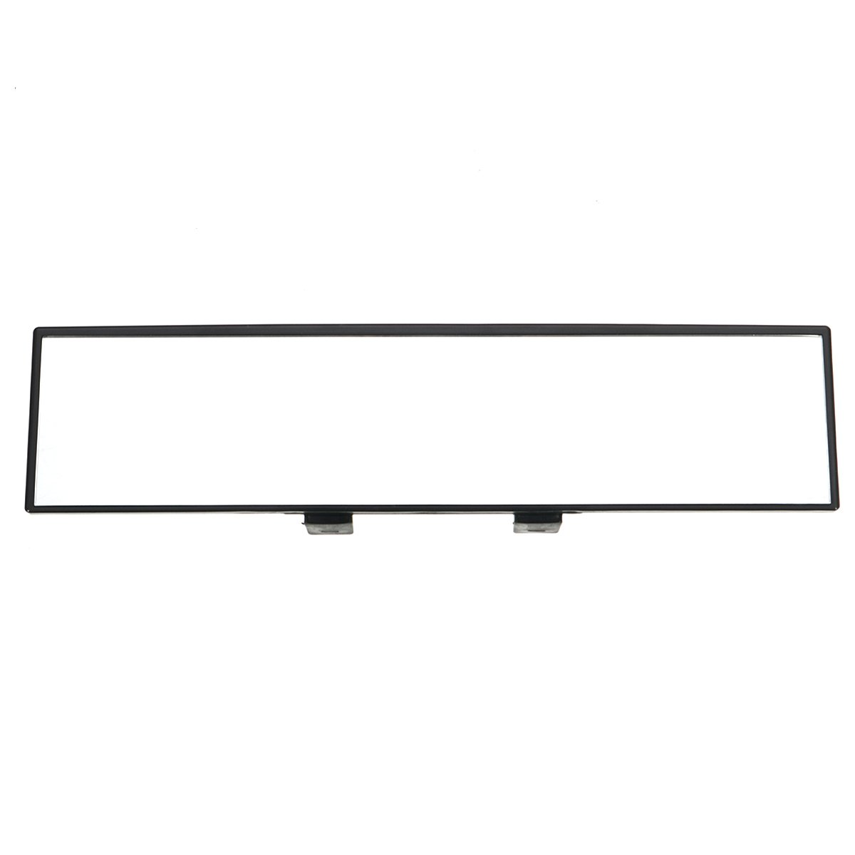 NICOLIE Universal 30CM Wide Flat Interior Clip On Rear View Clear Glass Mirror