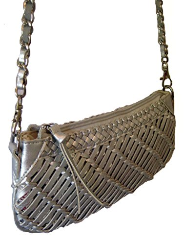 The Little Market Shop, Borsa a spalla donna grigio Silver Grey Taglia unica