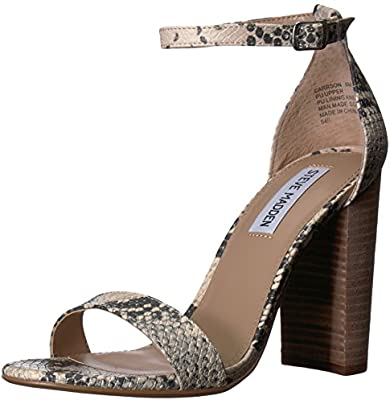 19930a288ae Steve Madden Women's Carrson Heeled Sandal, Grey Snake, 9.5 M US ...
