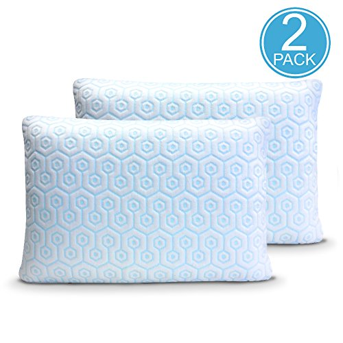 Hydrologie 2PK Cooling Pillow Zipper Covers for sleeping cool with down alternative pillows, memory foam pillows, down and feather pillows, help with night sweats, hot flashes, hypoallergenic (Jumbo)
