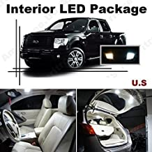 Ameritree Ford F-250 F-350 Super Duty 2011-2015 ( 9 Pcs ) Xenon White LED Lights Interior Package + White LED License Plate Kit