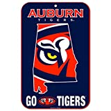 WinCraft Auburn Tigers Official NCAA 11'' x 17'' State Plastic Wall Sign 11x17 by 573056