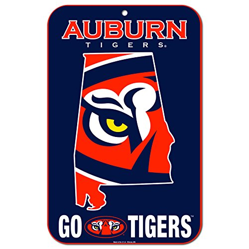 WinCraft Auburn Tigers Official NCAA 11'' x 17'' State Plastic Wall Sign 11x17 by 573056 by WinCraft