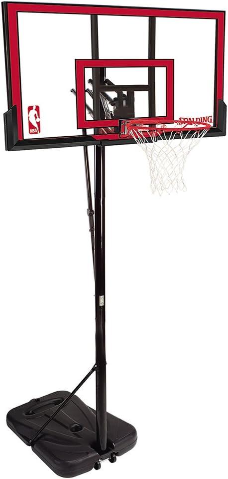 "Spalding NBA Portable Basketball System - 48"" Polycarbonate Backboard"