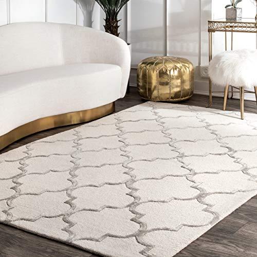 nuLOOM NBHAC13A-2608 Silk Moroccan Wool Rug, 2' 6