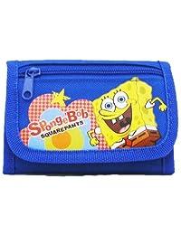 Officially Licensed SpongeBob Squarepants Velcro Closure Tri Fold Wallet - SpongeBob