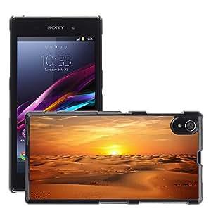 Cas Coq Case Cover // M00421777 Paisaje del desierto Sand Sunset Sky // Sony Xperia Z1 L39 C6903 C6906 C6943 C6902
