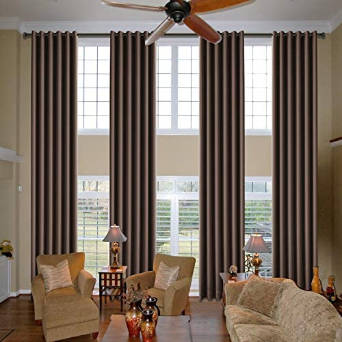 cololeaf Chocolate Loft Curtains Room Darkening Curtain Panels Blackout Curtain