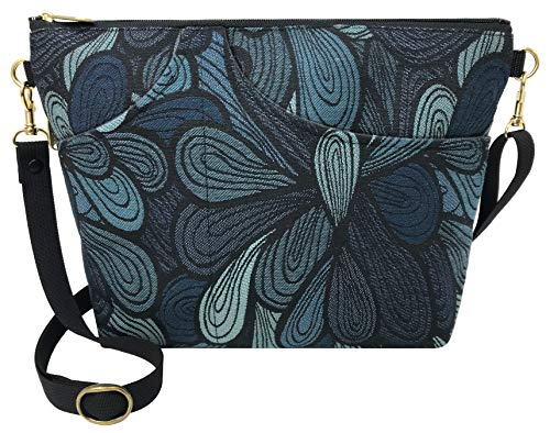 Danny K. Women's Tapestry Bag Shoulder Handbag, Large Zipper Purse Handmade in the USA (Splash)