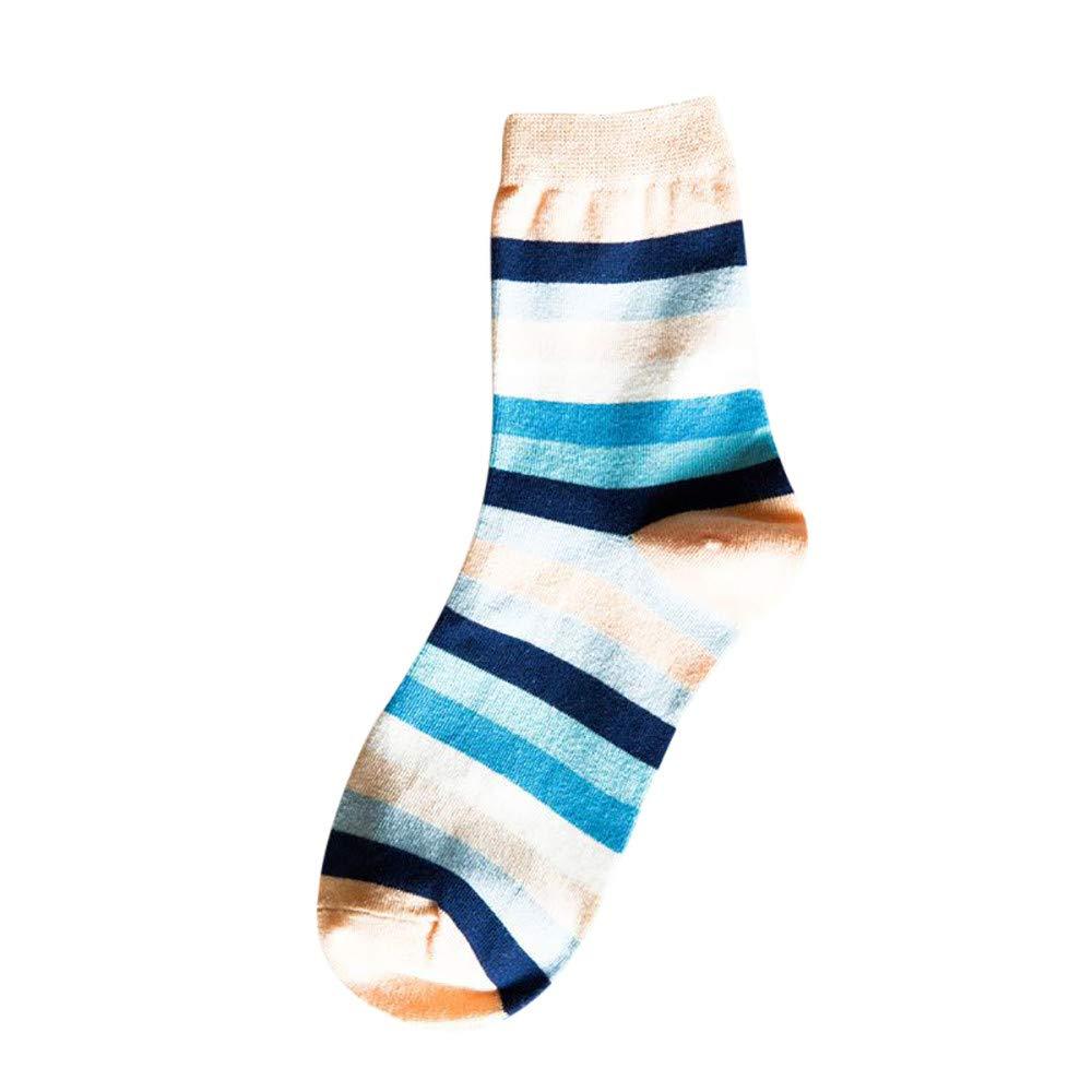 A.M.Feker 1Pairs FashionWomens Comfortable Casual Rainbow Stripe Cotton Short Ankle Socks