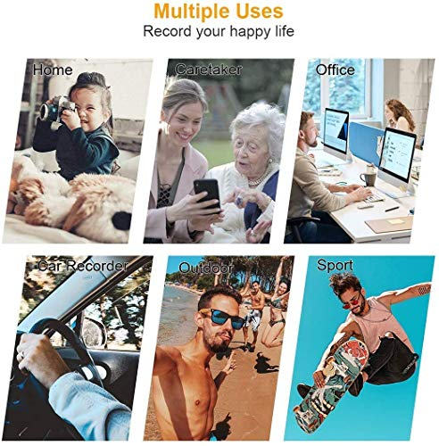 Mini Camera 1080P Nanny Camera Portable Small HD Camera with Automatic Night Vision and Motion Detection,Easy Operation with Intelligent Switch,Micro Camera for Home and Office