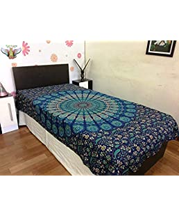 Narsinh enterprises Cotton Rajasthani Jaipuri Traditional Printed Single Bedsheet
