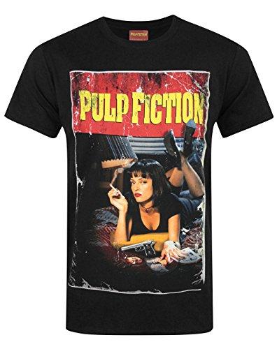 Official Pulp Fiction Movie Poster Men's T-Shirt (L) (Pulp Fiction Merchandise compare prices)