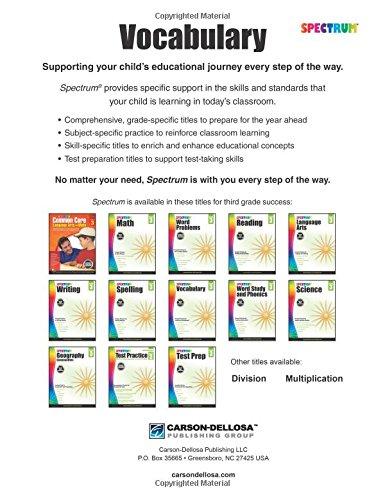 Spectrum Vocabulary, Grade 3: Spectrum: 0044222239855: Amazon.com ...