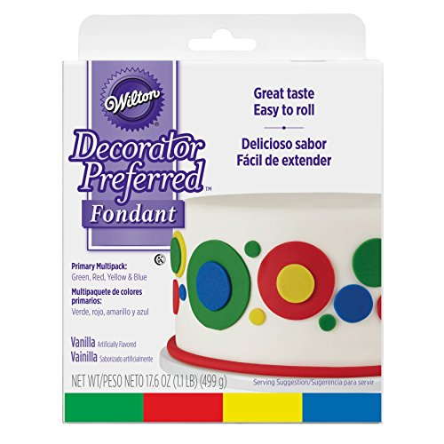 Price comparison product image Wilton Decorator Preferred Primary Colors Fondant,  4-Pack Fondant Icing