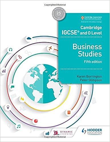 cambridge igcse and o level business studies 5th edition karen