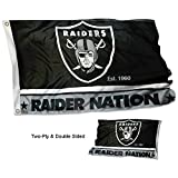 Oakland Raiders Double Sided Raiders Nation Flag