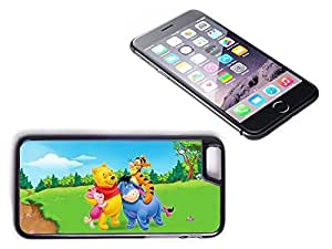 iPhone 6 Black Plastic Hard Case with High Gloss Printed Insert Winnie The Pooh