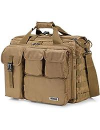 "17"" Men's Military Laptop Messenger Bag Multifunction Tactical Briefcase Computer Shoulder Handbags"