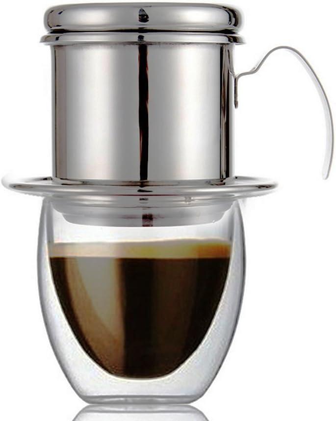 RUVALINO Filtro de café vietnamita Café de acero inoxidable Tazón ...