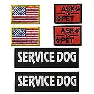 Homiego Morale Service Dog Hook & Loop Patches for Pet Tactical K9 Service Harness Vest