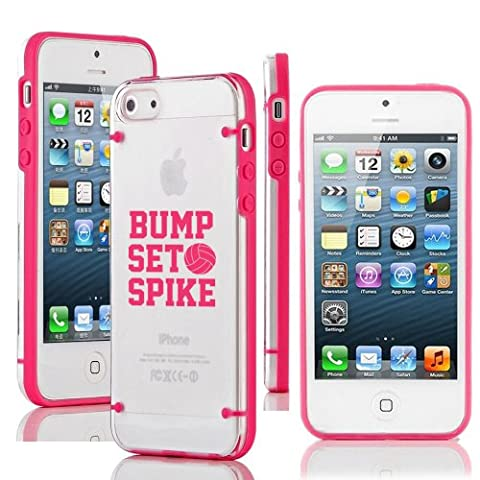 Apple iPhone 5 5s Ultra Thin Transparent Clear Hard TPU Case Cover Bump Set Spike Volleyball (Hot (Iphone 5 Cases Spike)