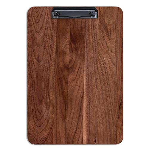 - Solid Hardwood Clipboard American Black Walnut Wood 9.5