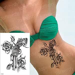 adgkitb 3 Piezas Tatuaje Temporal Cruz Tatuaje de Halloween ...
