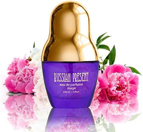 Russian Present MAGIC Eau De Parfum Spray for Women, 35 ml (1.15 oz) – Fruity Floral Perfume, Best Gift for Her + BE ORIGINAL
