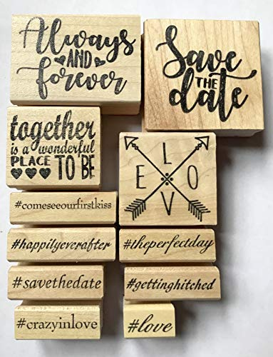 Wedding Rubber Stamps Set
