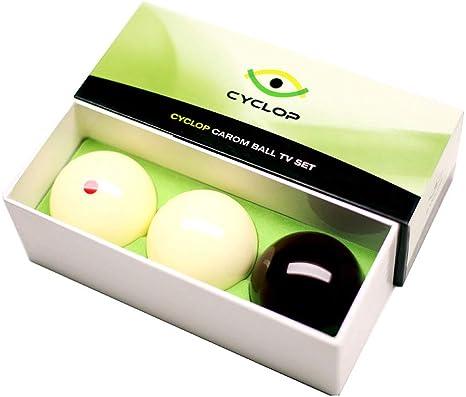 Cyclop Juego Bolas Carom Standard Ball Set 61. 5mm 1 Set 3 Bolas: Amazon.es: Deportes y aire libre