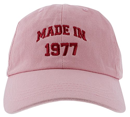 40th Birthday Gift Made 1977 Original Parts Hat Cap Pink Gifts Mom Says Its Cool