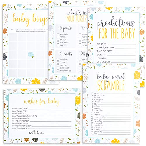 Best Paper Greetings Baby Shower Games, (Set of 5, 50 each) -