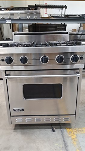 Viking Pro 30' Stainless Steel Gas Range Convection Oven