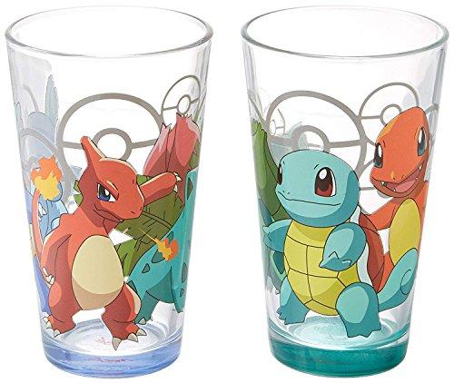 JUST FUNKY Pkm-GS2-8970-Jfc Pokemon Pint Glass with Bottom Spray -