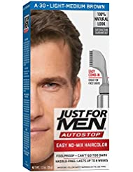 Just For Men AutoStop Men's Comb-In Hair Color, Light...