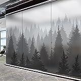 Frosted glass films window sticker light opaque bathroom restroom anti--B 80x120cm(31x47inch)
