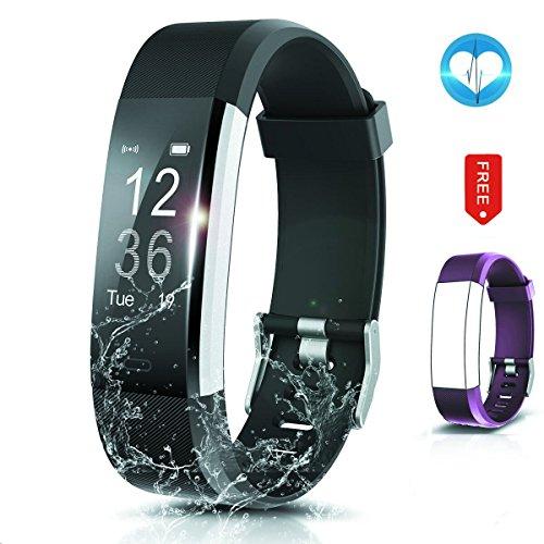 Fitness Tracker- Waterproof Activity Tracker Heart Rate Monitors Sleep Tracking Wireless Bluetooth Activity Tracker Smart Bracelet Pedometer Fitness Sports Wristbands