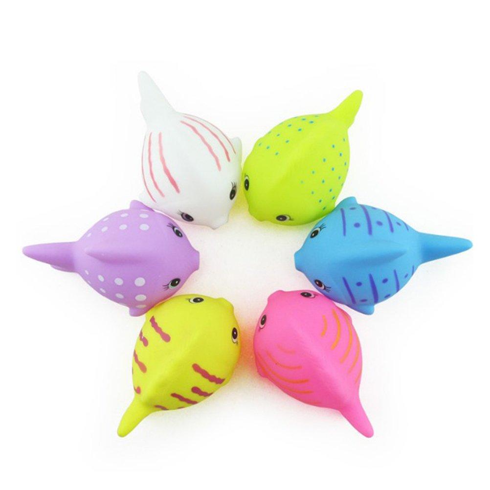 Amazon.com: TOYMYTOY 6pcs Fish Bath Toys Baby Bathtime Fun Toys Swimming Bathtub Pool Squirts Float Toys: Toys & Games