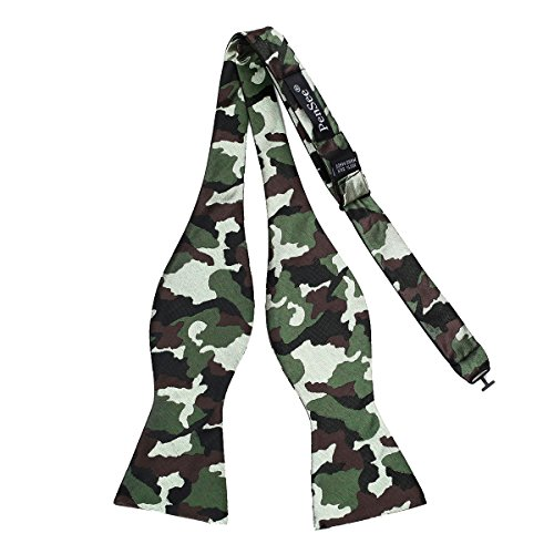 PenSee Mens Self Bow Tie Exquisite Camouflage Charming Accessories-Various Colors (Color 5-Army Green & Brown) Camo Bow Tie