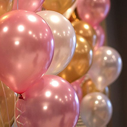 Engagement by Ashnna Baby Shower Gold Pink Party Decorations Wedding Gold Pink Latex Balloons Thicken Round Balloons Party Decorations Supplies for Birthday Party