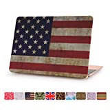 Macbook 12 Inch Case, Dowswin Rubberized Hard Shell Print Frosted Protective Cover for Apple Macbook Retina 12.1'' Model A1534 laptop(US Flag)