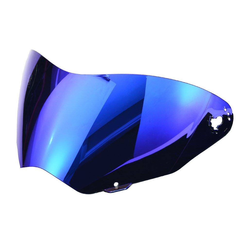 NENKI Dual Sport Enduro Motocross & Motorcycle Helmet NK-310 DOT Approved Iridium Blue Visor (Visor, Iridium Blue)