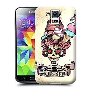 Unique Phone Case Skeleton skull head arts map sugar skull Hard Cover for samsung galaxy s5 cases-buythecase