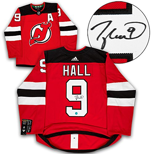 - AJ Sports World Taylor Hall New Jersey Devils Autographed Adidas Authentic Hockey Jersey