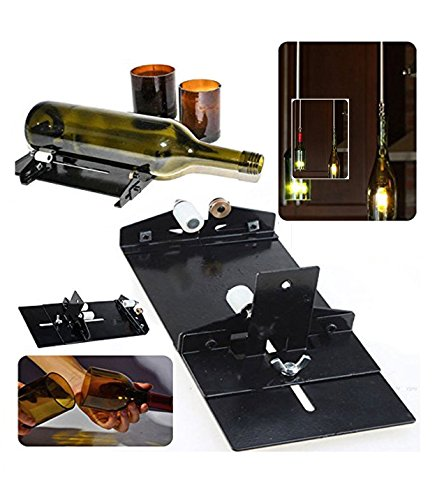 Amazing Double Premium Quality All Glass Bottle Cutter Tool Rounded Shape Glass Cutter Machine For Wine Beer Glass Decorate Rooms Gallery Lawn   Garden With Glass Candles Lights Easy Home Decoration