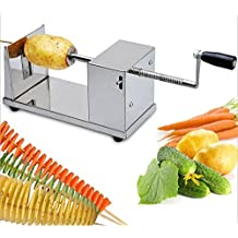 RioRand® Manual Stainless Steel Twisted Potato Slicer Spiral Vegetable Cutter French Fry