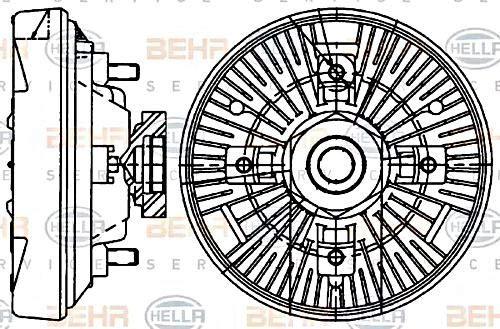 BEHR HELLA SERVICE 8MV 376 907-461 PREMIUM LINE Clutch, radiator fan