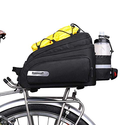 Rhinowalk Bike Trunk Bag Pannier Bag Rack Bags Bicycle Carrier Bag Luggage Bag with Rain Cover (for Cargo Rack Bicycle…